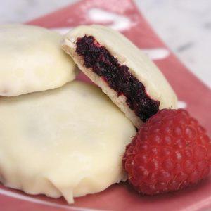 Raspberry Filled Shortbread Cookie